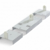 8-Ft 2 Lamp Fluorescent Fixture Bracket Kit