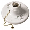 Plastic Lamp Holder with Pull Chain