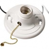 Plastic Lamp Holder with Pull Chain and Conductors