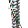 "3-12 AWG Stranded Wire: 6-FT - 1/2"" Conduit - Includes three (3) 12 AWG Wires - Black, White and Green; two (2) 16 AWG Control Wires - Purple and Gray"
